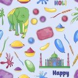 Pattern of Holi element Royalty Free Stock Image