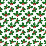 Pattern with holly berries Royalty Free Stock Photography