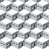 Pattern homes (vector) Stock Photography