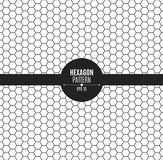The pattern of honeycomb is black. Background for your project. Black on white Royalty Free Stock Photo