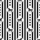 Pattern with horses Royalty Free Stock Images