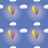 Pattern with hot air balloons Stock Photo
