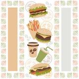 Pattern hot dog burger Royalty Free Stock Photography