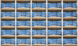 Pattern of hotel room balconies Royalty Free Stock Photography