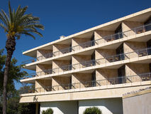 Pattern of hotel room balconies Royalty Free Stock Images