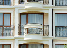 Pattern of hotel room balconies Royalty Free Stock Image