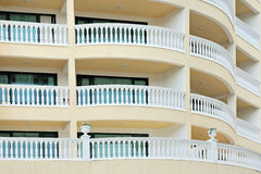 Pattern of hotel room balconies Stock Photo