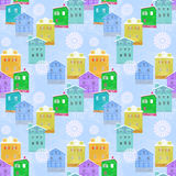 Pattern with house Royalty Free Stock Photos