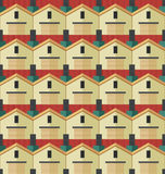 The pattern of houses Royalty Free Stock Images