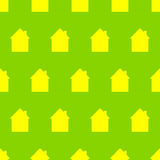 Pattern with houses Royalty Free Stock Image