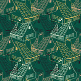 Pattern with houses Stock Images