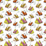 Pattern with houses Royalty Free Stock Photo
