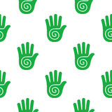 Pattern with human hands Stock Images