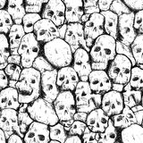 Pattern of human skulls Royalty Free Stock Images