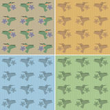 Pattern hummingbird Royalty Free Stock Image