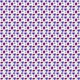 Seamless pattern with colorful hearts stock illustration