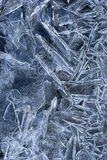 Pattern in ice Stock Image