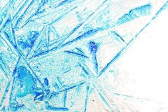 Pattern in ice Stock Images