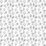 Pattern ice cream line vector stock illustration