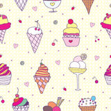 Pattern ice-cream Royalty Free Stock Image