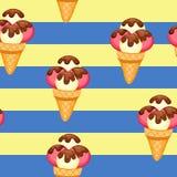 Pattern Ice Cream vector illustration eps 10 Stock Image