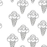 Pattern Ice Cream vector illustration eps 10. Background of texture Ice Cream dessert. Seamless background. Vector Stock Photos
