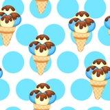 Pattern Ice Cream vector illustration eps 10. Background of texture vanilla Ice Cream dessert. Stock Images