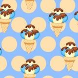 Pattern Ice Cream vector illustration eps 10. Background of texture vanilla Ice Cream dessert. Stock Photo