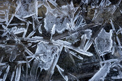 Pattern of ice crystals Royalty Free Stock Photography