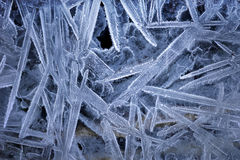 Pattern of ice crystals Royalty Free Stock Photos