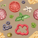 Pattern with illustration of food ingredients Stock Image