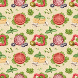 Pattern with illustration of food ingredients Royalty Free Stock Photography