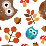 Pattern illustration OWL stock illustration