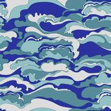 Pattern with the image of the cream texture of blue and gray shades. Abstract background. Stock Photo