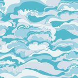 Pattern with the image of the cream texture of light blue and white shades. Abstract background. Stock Images