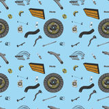 Pattern with the image of the new parts for the Stock Photography