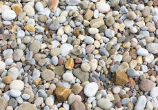 Pattern image of pretty colourful pebbles Royalty Free Stock Photography