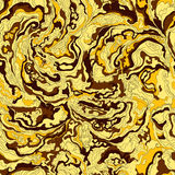 Pattern with the image texture of smoke golden, brown, yellow and ocher shades Stock Image