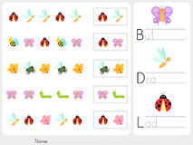 Pattern images - Worksheet for education Royalty Free Stock Photography