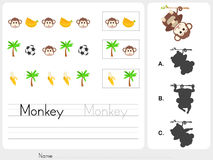 Pattern images - Worksheet for education Stock Images