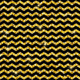 Pattern In Zigzag. Classic Chevron Gold Glitter Pattern. Golden Circles. Abstract Geometric Texture. Retro Vintage Decoration. Des Stock Image
