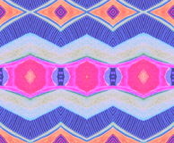 Pattern  indian  blue pink orange  lilac  space Stock Photography