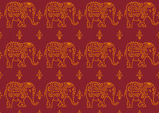 Pattern indian elephant Royalty Free Stock Image