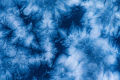 Pattern of Indigo batik dye on cotton cloth, Dye indigo fabric. Backgrond and texture Stock Photo