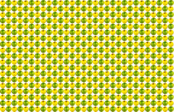 Pattern infinite sequence of yellow green apple on a white background Stock Photo