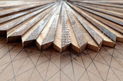 A pattern from an inlaid table. Royalty Free Stock Images