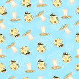 Pattern with insects Royalty Free Stock Photo