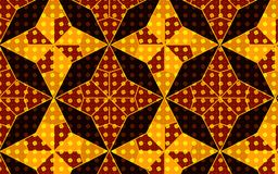 Pattern inside pattern effect in a vector golden brown and yellow stars pattern Stock Image
