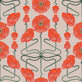 Pattern inspired by art nouveau style Stock Images
