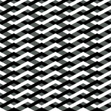 Pattern with interlacing zigzag lines. Stock Images